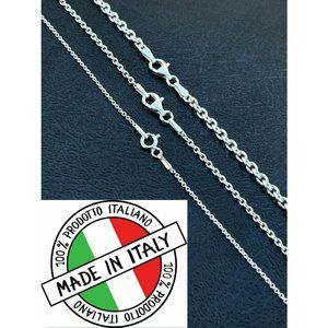 HarlemBling 925 Silver Cable Chain Rolo Necklace
